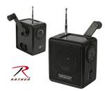 Rothco 80004 Solar / Wind Up Radio - Black