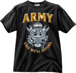 Rothco 80205 Black Ink 1-Sided - ''army'' Emblem T-Shirt