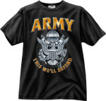 Rothco 80206 80206 Black Ink 1-Sided - ''army'' Emblem T-Shirt