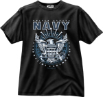 Rothco 80210 Black Ink 1-Sided - ''navy'' Emblem T-Shirt