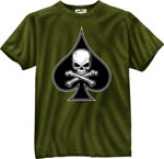 Rothco 80235 80235 Black Ink 1-Sided - Olive Drab ''death Spade'' T-Shirt