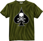 Rothco 80236 80236 80235 Black Ink 1-Sided - Olive Drab ''death Spade'' T-Shirt