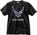 Rothco 80255 Black Ink 1-Sided - ''air Force'' T-Shirt