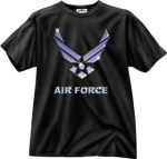 Rothco 80256 80256 Black Ink 1-Sided - ''air Force'' T-Shirt