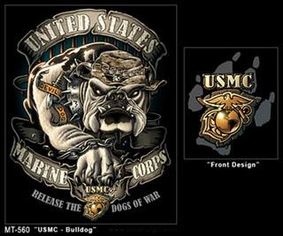 Rothco 80330 80330 Black Ink - USMC Bulldog T-Shirt