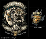 Rothco 80330 80330 Black Ink - USMC Bulldog T-Shirt