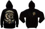 Rothco 80333 Black Ink USMC Bulldog 2-Sided Hooded Pullover Sweatshirt