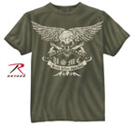 Rothco 80385 Black Ink USMC Death Before Dishonor T-Shirt