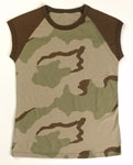 Rothco 8038 Women's Tri-Color Camo S/S Raglan T-Shirt