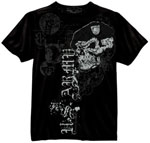 Rothco 80415 Black Ink US Army Skull With Beret T-Shirt