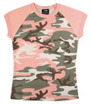 Rothco 8079 Women's Subdued Pink Camo S/S Raglan T-Shirt