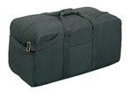 Rothco 8133 Rothco Canvas Assault Cargo Bag - Black