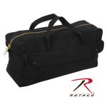 Rothco 8150 Rothco Canvas Jumbo Tool Bag w/ Brass Zipper-Blk