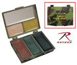 Rothco 8205 Five-Color Woodland/Grey Bark Camouflage Face Paint Compact
