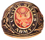 Rothco 822 Army Deluxe Engraved Ring