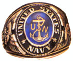 Rothco 823 Navy Deluxe Engraved Ring