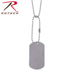 Rothco 8381 Rothco Military Dog Tag - S/S Polished Finish