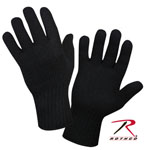 Rothco 8518 Black Wool Glove Liners