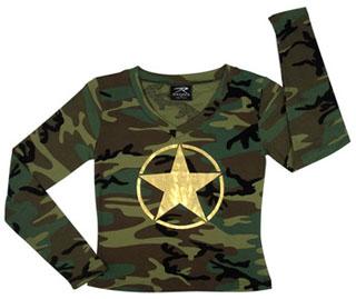 95eebc2be2e Rothco 8519 Womens L S Camo T-Shirt w Foil Star. Loading zoom