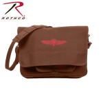 Rothco 8727 Canvas Israeli Paratrooper Bag - Earth Brown
