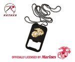 Rothco 8791 Black USMC G&A Dog Tag Bottle Opener w/Chain