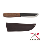 Rothco 891 Bushcraft Hardwood Handle Knife w/Sheath
