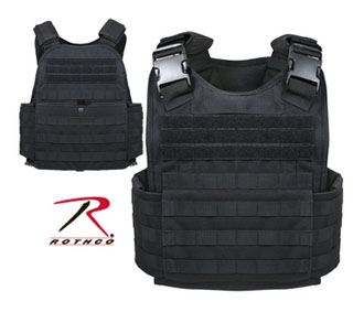 Rothco 8922 Rothco Molle Plate Carrier Vest - Black