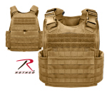 Rothco 8923 Rothco Molle Plate Carrier Vest - Coyote
