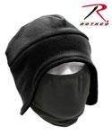Rothco 8943 Convertible Fleece Cap And Polyester Face Mask - Black