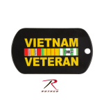 Rothco 8984 Rothco Dog Tag / Vietnam Veteran - Black