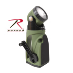Rothco 898 Rothco 9 Led Hand Crank Swivelhead Flashlight-Od