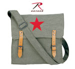 Rothco 9142 Rothco Canvas Classic Bag / Red Star - Olive Drab