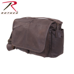 Rothco 91480 Rothco Brown Leather Classic Messenger Bag