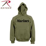 Rothco 9177 9177 Rothco Marines Pullover Hooded Sweatshirt - Olive Drab