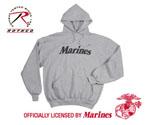 Rothco 9186 Rothco Marines Pullover Hooded Sweatshirt - Grey