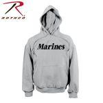 Rothco 9187 9187 Rothco Marines Pullover Hooded Sweatshirt - Grey