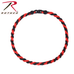 Rothco 92330 Rothco Paracord Necklace - Red / Black