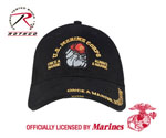 Rothco 9339 Deluxe Low Profile Cap - Black Marine Bulldog