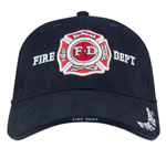 Rothco 9365 Deluxe Low Profile Cap Blue - Fire Department