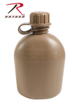 Rothco 936 Gi 1qt 3pc Plastic Canteen - Coyote Brown