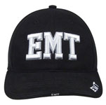 Rothco 9381 Deluxe Black Low Profile ''e.m.t.'' Cap