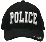 Rothco 9383 Deluxe Low Profile Cap Blk - ''police''