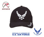 Rothco 9384 Deluxe Black ''new Wing Air Force'' Low Profile Cap