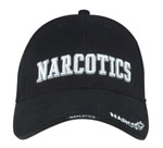 Rothco 9399 Deluxe Low Profile Cap Black - Narcotics