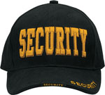 Rothco 9490 Deluxe Black Security W/gold Low Profile Insignia Cap