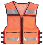 Rothco 9520 Orange Public Safety Mesh Vest