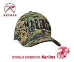 Rothco 9588 Deluxe Low Pro Cap Woodland Digital - Marines