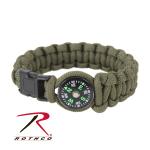 Rothco 958 Rothco Paracord / Compass Bracelet - Od