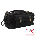 Rothco 9611 Rothco Canvas Long Weekend Bag - Black / Leather