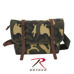 Rothco 9614 Rothco Camo Canvas Explorer Shoulder Bag/Leather